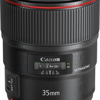 Canon - EF 35mm f/1.4L USM Wide-Angle Lens - Black