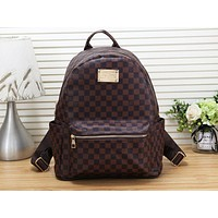 LV Louis Vuitton Fashion new print large capacity zipper backpack travel backpack