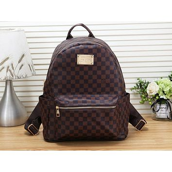 LV Louis Vuitton men and women all-match casual backpack
