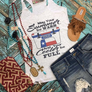 May your summers be warm.. light gray tank top
