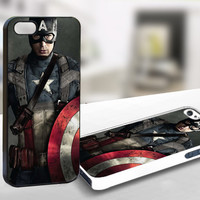 For Iphone 5 - Captain America Character Poster - Case Print On Hard Cover
