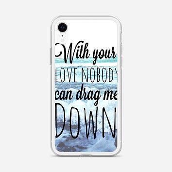 One Direction Drag Me Down Lyric iPhone XR Case