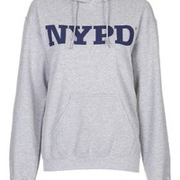 NYPD Hoody by Tee & Cake - Grey