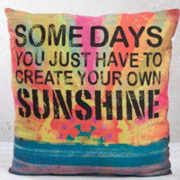 Somedays you just have to create your own SUNSHINE pillow