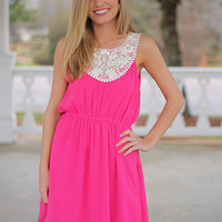 On Top Of The World Dress, Pink