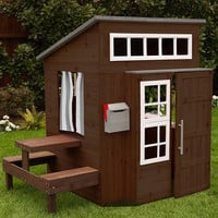 KidKraft Espresso Modern Outdoor Play House | zulily