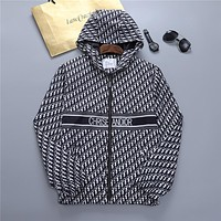 Dior CD AIR new fashion letter printing men's and women's tops, zipper hoodies, personalized jackets