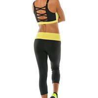 Bombshell Sportswear - Sports Bra | Designer Active Wear - Citrus Yellow