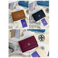 TB TORY BURCH WOMEN'S LEATHER WALLET