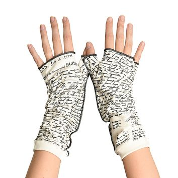 Declaration of Independence Writing Gloves