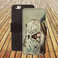 iphone 5 5s case Wear glasses cat colorful iphone 4/ 4s iPhone 6 6 Plus iphone 5C Wallet Case,iPhone 5 Case,Cover,Cases colorful pattern L172