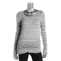 INC Womens Linen Blend Loose Knit Pullover Sweater