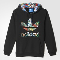 adidas Label Sweat Hoodie - Black | adidas US