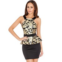 Women Sequined Peplum Dress