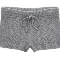 Aerie Women's Knit Boxer (Dark Heather Grey)
