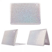 Silver Color  Flash Glitter Pattern Hard Plastic Case For Apple macbook Air 11.6 13.3/ Pro 13.3 15.4 Retina  PC Protector case