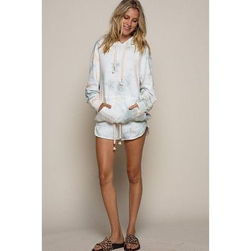 Sea Dream Hoodie Short Tie Dye Set