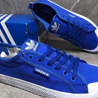 Adidas Honey low Casual Fashion Blue Canvas Shoes