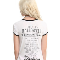 The Nightmare Before Christmas Soundtrack Watercolor Girls Ringer T-Shirt