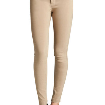 TheLovely Women's 5 Pockets Long Ponte Skinny Pants