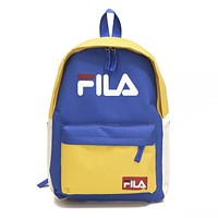 FILA tide brand simple men and women sports canvas backpack #1