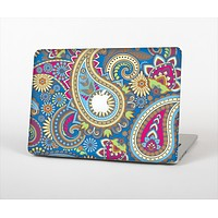 """The Subtle Blue & Yellow Paisley Pattern Skin Set for the Apple MacBook Air 11"""""""