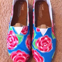 Lilly Pulitzer First Impressions Pattern Painted Toms