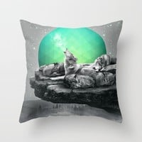 Echoes of a Lullaby / Geometric Moon Throw Pillow by Soaring Anchor Designs | Society6