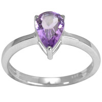 1.09 CTTW Genuine Amethyst Beautiful and Stylish Ring in 925 Sterling Silver