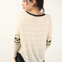 SKULL ELBOW PATCH [3115044657] - $29.90 : Kaitlyn Clothing