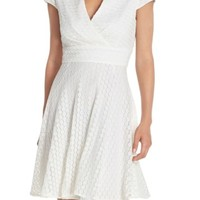 Betsey Johnson | Lace Fit & Flare Shirt Dress | Nordstrom Rack