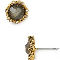 Alexis Bittar Pyrite and Crystal Stud Earrings