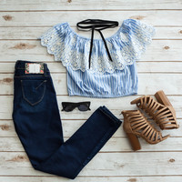Off Shoulder Striped Top