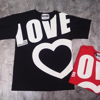 ''MOSCHINO''Hot letters print T-shirt top