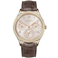 Patek Philippe Ladies Grand Complications 35mm Rose Gold Watch with Diamond Bezel 7140R-001