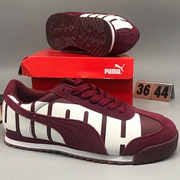 Puma SUEDE VALENTINE HIS fashion running shoes F-CSXY red