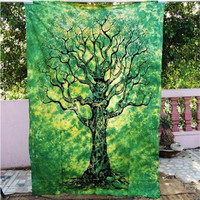 Indian Mandala Tapestry Throw Hippie Tapestry Hanging Printed Decorative Wall Tapestries Bright Color Bedding/Living Room T0.45
