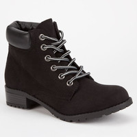 Soda Equity Womens Work Boots Black  In Sizes