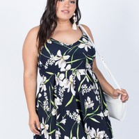 Plus Size Field of Lilies Dress
