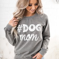 #DogMom Graphic Sweatshirt (Heather Grey)