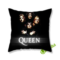 Queen Music Cover Square Pillow Cover
