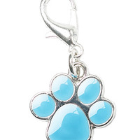 Blue Enamel Paw Dog Collar Charm | Chihuahua Clothes and Accessories at the Famous Chihuahua Store!