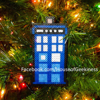 DIY Kit - Doctor Who Inspired Bead Sprites: Rose and Doctor Number 9 with Captain Jack Magnets, Wall Decor, or Ornaments