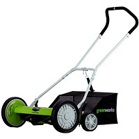 20-Inch 5-Blade Push Reel Lawn Mower with Grass Catcher, Self-propelled.