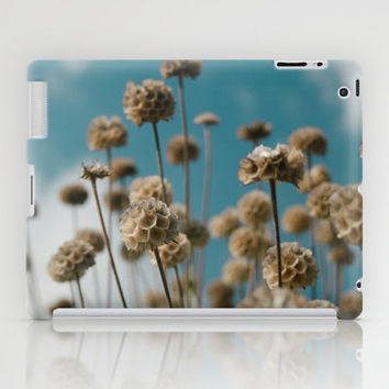 Art Print Tablet Cases, iPad Mini and iPad (2nd, 3rd, and 4th Gen), Blue and Gold Field of Flowers Art Print Tablet Cover.
