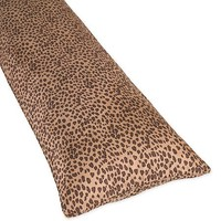 Cheetah Animal Print Full Length Double Zippered Body Pillow Cover by Sweet Jojo Designs