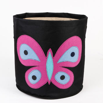Storage Thicken Black Bedroom Butterfly Creative Storage Basket = 5892878401