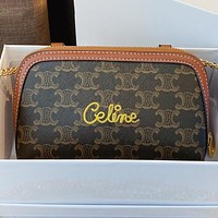 Celine New fashion letter pattern print shoulder bag handbag crossbody bag