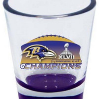 Baltimore Ravens Superbowl Super Bowl XLVII 47 Champions Champs Highlight Shot Glass