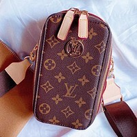 LV Fashion New Monogram Print Shoulder Bag Crossbody Bag